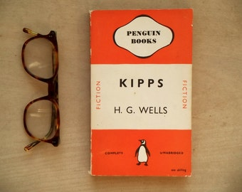 Penguin book H. G. Wells Kipps penguin paperback