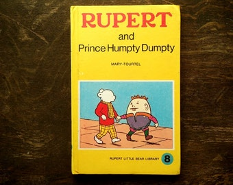 1970s vintage Rupert Bear book Prince Humpty Dumpty by Mary Tourtel