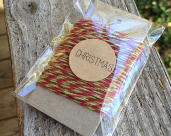10 Yards • Timeless Twine Baker's  Twine / String • 4-Ply • 100% Cotton •  Gift Wrap • Craft  • Christmas
