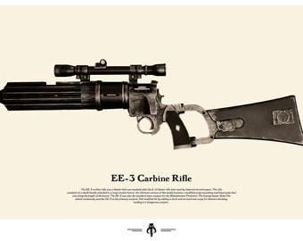 Star Wars Weapon Poster - Boba Fett Blaster