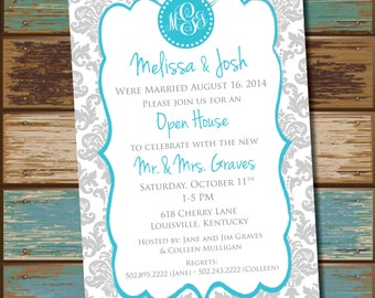Open House - Monogram Party invitations