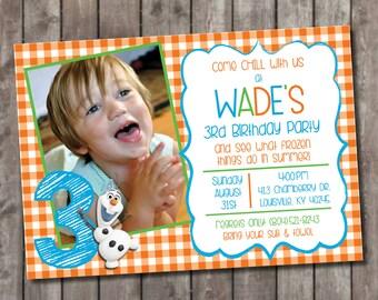 Frozen - Olaf Party invitations - DIY Printable