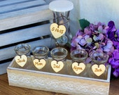 Burlap and Lace Sand Ceremony Set for Your Children Crate Personalized Centerpiece (4 PERSON SET)