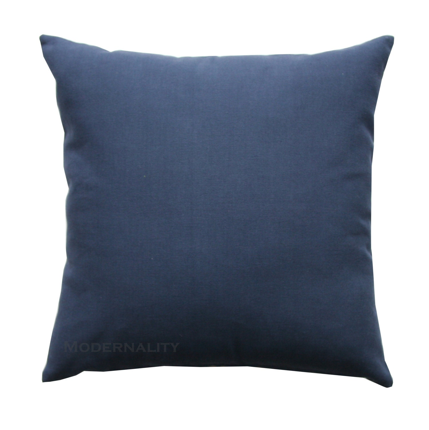 Decorative Pillows Navy Blue : Accent Pillows Navy Blue Solid Pillow Cover All Sizes
