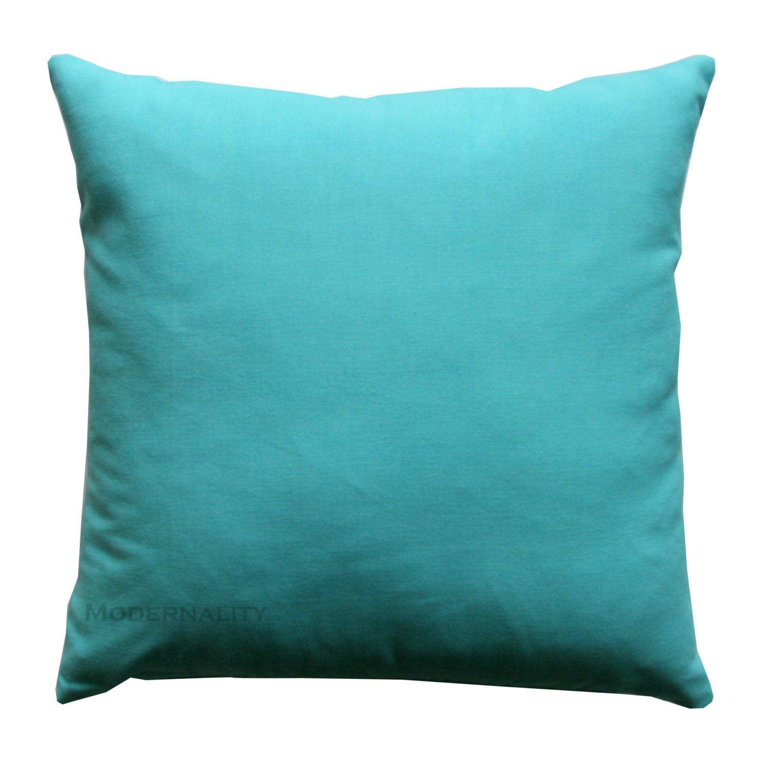 Blue And Aqua Throw Pillows : Aqua Throw Pillow Mandarin Blue Pillow Cover Solid Pillow