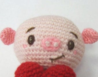 Amigurumi Big Heart : Crochet Pattern Stripey Cute Amigurumi Monster