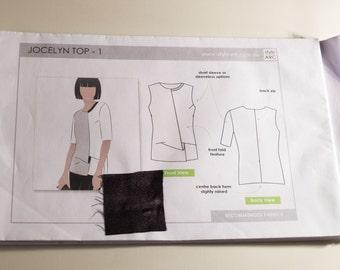 Style Arc Jocelyn woven top size 8