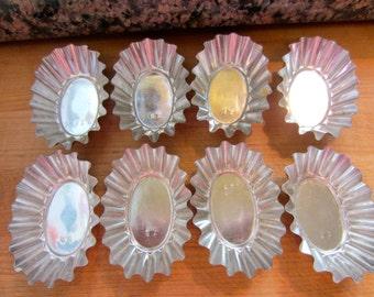 Vintage Mini Tartlet Pans, Fluted Oval Tartlet Pans, Individual Serving  Savory or Sweet Tartlets, Vintage 70s Made In Sweden, Set of 8
