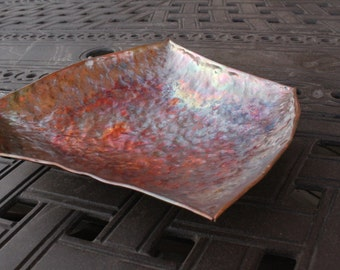 5 sided hand hammered copper bowl