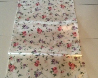 Handmade Pink Floral English Country Fabric by Laura Ashley Table Runner /Scarf 16 x 53 ins
