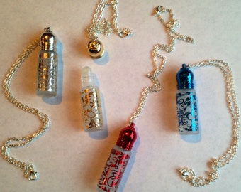 Perfume Necklace roll on & refillable FREE SHIP