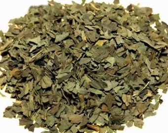 1 Cup Sweet Basil leaf, cut and sifted, Organic dried herb, makes delicious seasoning for stew, meats, pasta and more