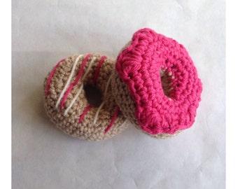 Crochet Plush Donut Set Of 2