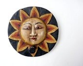 Bali Sun wall hook,round sun face  Indonesian wall hanging, Balinese decor