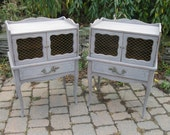 REDUCED ** Chic and Shabby Grey Pair of Nightstands / End Tables / Side Tables