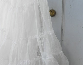 vintage white petticoat