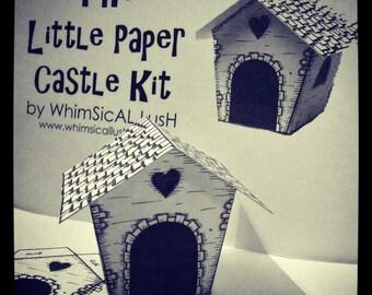 The Little Paper Castle Kit: Paper House/ Mazot (LARGE KIT)