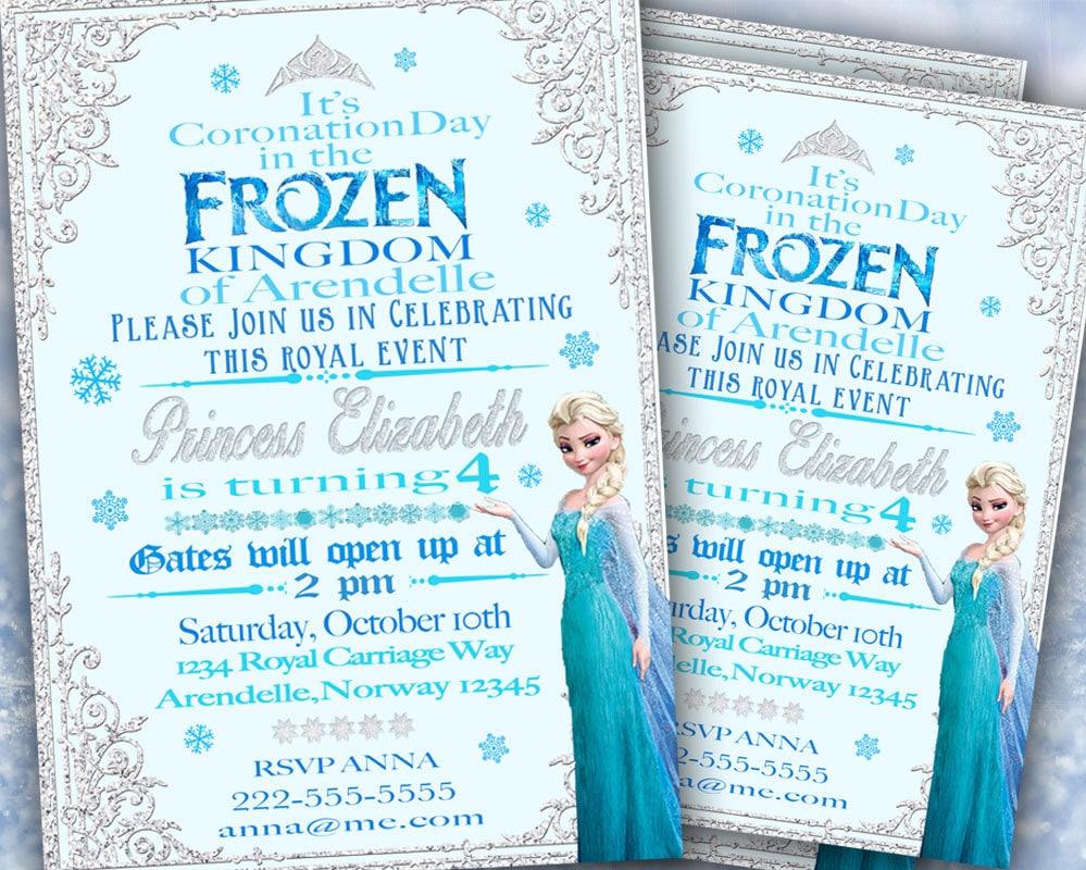 Elsa frozen birthday party invitation ideas bagvania free printable image for frozen birthday invitations filmwisefo