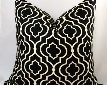 NEW-Designer Pillow Cover-Patel Noir-Black Pillow-Pillow Cover-20x20