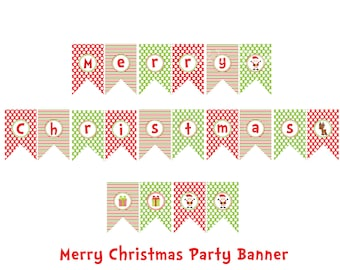 Items similar to Printable HAPPY HOLIDAYS Banner - Instant ...