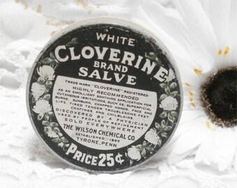 Vintage Cloverine Salve Tin Wilson Chemical