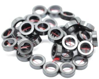 32 HEMATITE Gemstone Beads 12mm - COD1881