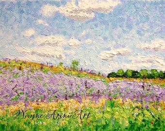 Wildflower Impressionist Impasto Original Oil Painting 11 x 14 Michigan Art
