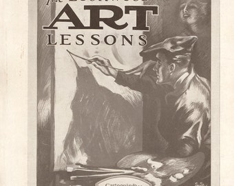 Jazz Age Popular Art Magazine Devoted to Cartooning, Design, Illustrating, Lettering, Figure Studies, Nudes,  May 1923 Vintage Periodical