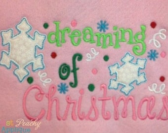 Dreaming of Christmas - Appliqued and Embroidered Shirt