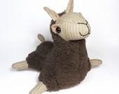 Brown & Tan Plush Llama Toy