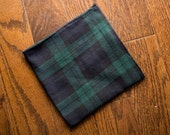 Blackwatch Plaid Pocket Square - 100% Cotton Gauze