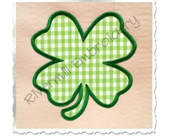 Four Leaf Clover Applique Machine Embroidery Design - 4 Sizes