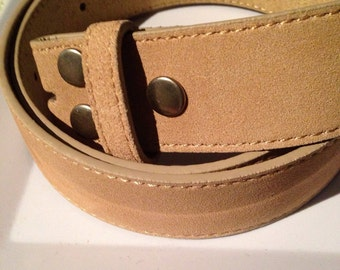 Tan Suede snap belt sizes XS-XL