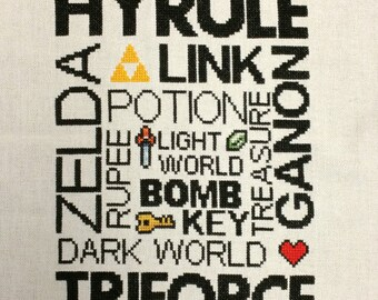 Legend of Zelda - Subway Art Sampler Cross Stitch PATTERN