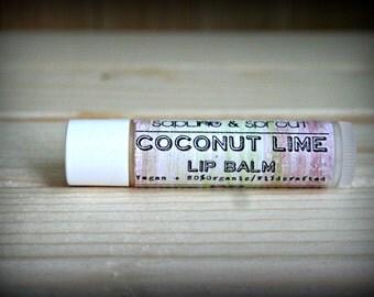 Coconut Lime, Organic Vegan lip balm
