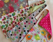 Baby Girl Bundle of Burpees -- Birdies, Little Turtles, and Polka Dots -- Set of Four