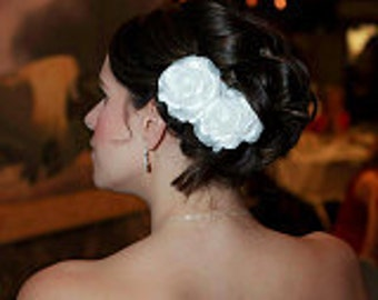 Ivory Wedding Hair Flowers clips Bridal Hair Flower Vintage Wedding Fascinator Bridesmaids Hair Rose Flower Wedding clips