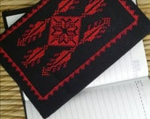 Notebook  with Palestinian embroidery cover
