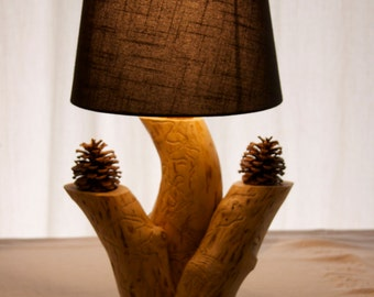 Three tree lamp - Accent lamp - Rustic lamp - Aspen lamp - Wood lamp