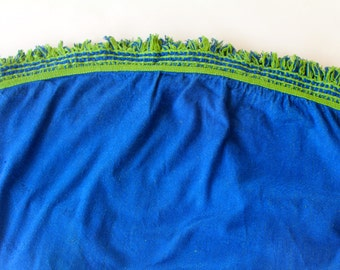 Outdoor or Indoor Retro Picnic Tablecloth Blue and Apple Green