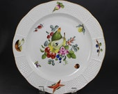 Herend Hungary Fruits and Flowers BFR plate or bowl
