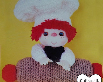 Instant Download PDF Vintage Eighties Buttermilk Biscuit Doll Crochet Pattern