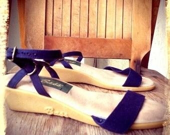 INCLINE   ///    Blue Canvas BASS Sandals