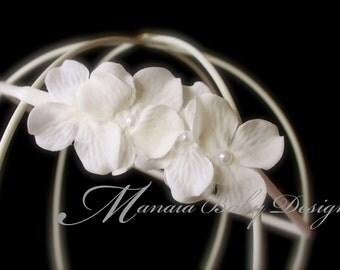 Creamy White Flower Headband