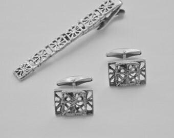 FINLAND Sarpaneva PITSI 1960's Vintage Cufflinks Modernist Sterling Silver Retro Scandinavian Space Age