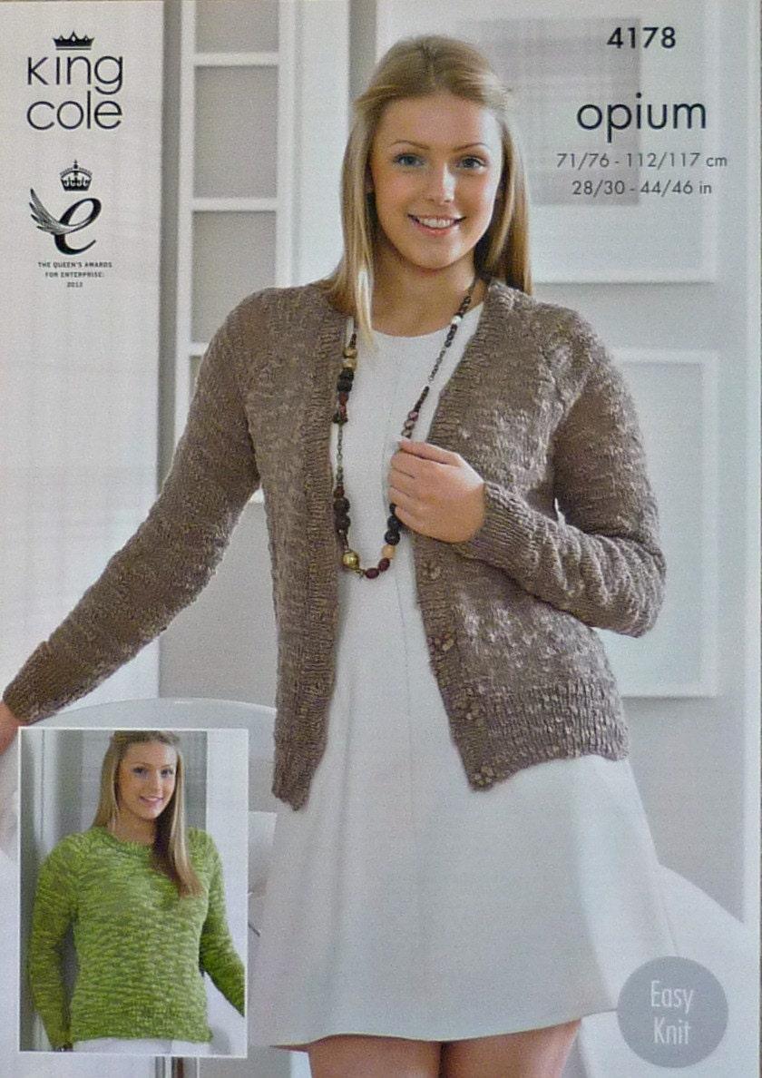 Womens Knitting Pattern K4178 Ladies/Girls Easy Knit V ...