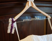 Wedding Dress Hanger for Brides and Bridal Parties, Name Hanger, Wedding Gift, Dress Hanger, Personalized Gift, Shower Gift