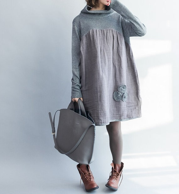 Gray/ doll big swing dress