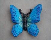 Cast Iron Butterfly / Monarch Butterfly / Home Decor / Garden Decor / Blue / Purple / Green