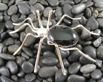 Vintage Extra Large Navajo Spider Pin in Sterling by Evelyn Spencer   Lot 3700